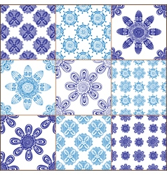 Tiles Floor Ornament Collection vector