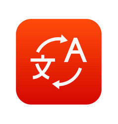translating icon digital red vector image