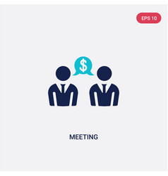two color meeting icon from blockchain concept vector image