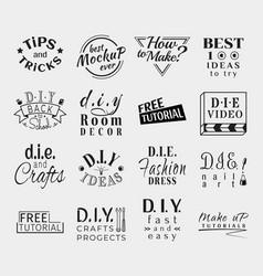 vintage retro labels for banner poster vector image