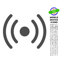Wi-fi source icon with set vector