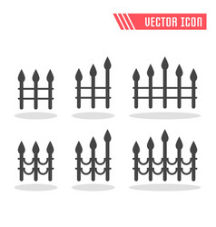 fence icon sign symbol vector image