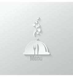 food menu paper cut design background vector image vector image