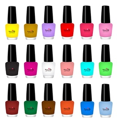 nail varnish vector image
