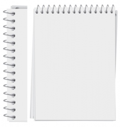 notepad page vector image vector image