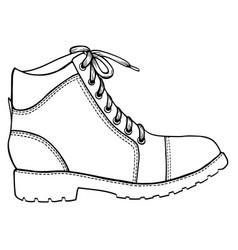 shoe sketch icon vector image vector image