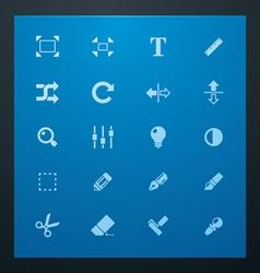 universal glyphs 3 photo set vector image