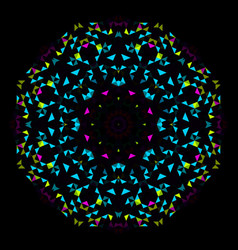 Abstract geometric bright kaleidoscope pattern vector