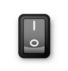 Black pc electric switch on position vector image vector image
