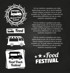 chalkboard food festival poster design vector image vector image