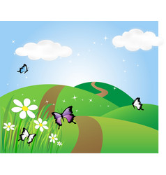 country side vector image vector image
