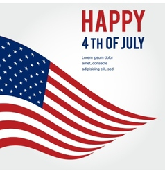 American flag background for Independence Day vector image