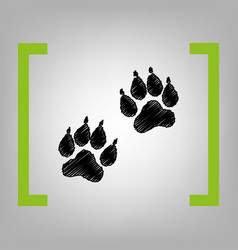 animal tracks sign black scribble icon in vector image vector image