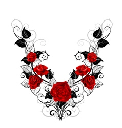 Design of Red Roses vector image vector image
