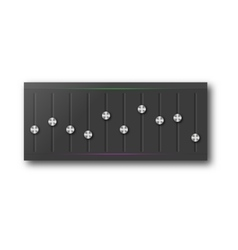 Graphic equalizer with a set of sliders vector image vector image