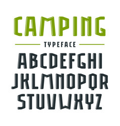 narrow sanserif bulk font with rounded corners vector image vector image