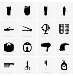 Personal care icons vector