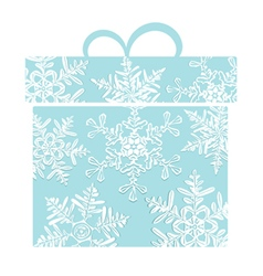 Stylized blue gift box vector image