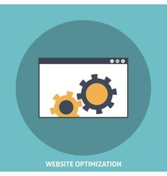 Website Optimization vector image vector image