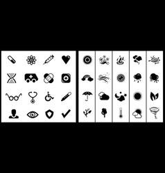 black icon set vector image