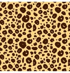 cheetah skin seamless texture leopard background vector image