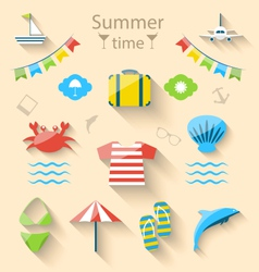 Flat Modern Design Set Icons of Travel on Holiday vector image vector image