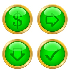 Green buttons for web vector image vector image