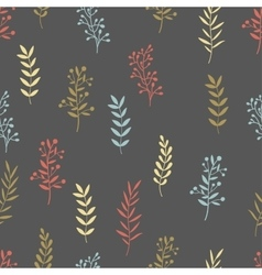 Hand drawn nature brunch seamless pattern vector image