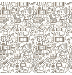 Seamless monochrome background for American vector image vector image