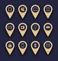 Set business pictogram icons for design your vector image vector image