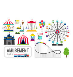 amusement park elements vector image