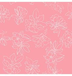 apple flowers white pattern vector image vector image