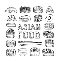 Asian food vector