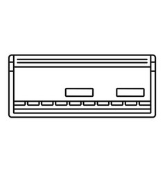 automatic conditioner icon outline style vector image
