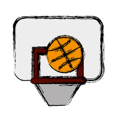 basketball board icon vector image