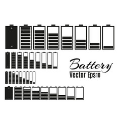 Battery charger with finger low batteries and vector