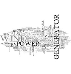 best way to power your rv text word cloud concept vector image