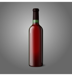Blank green realistic bottle for red wine vector
