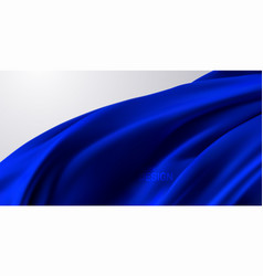 Blue silk fabric 3d vector