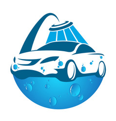 Car washing symbol vector