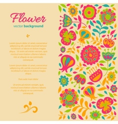 card for congratulations floral background vector image