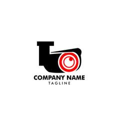 cctv security logo template design vector image