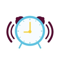 Clock with alarm sound vector image