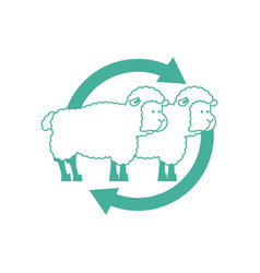 Cloning sheep sign laboratory research icon vector