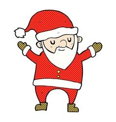 Comic cartoon dancing santa vector