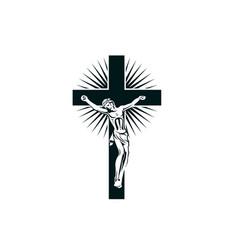 Crucifixion jesus on cross vector