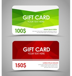 Design gift cards polygonal vector