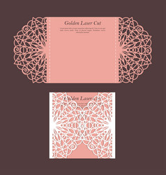 elegant golden wedding card vector image
