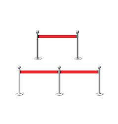 fencing red rope exclusive entrance event vector image