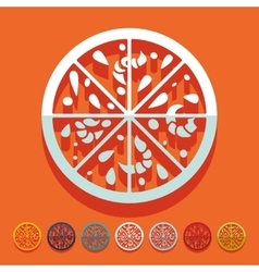 Flat design pizza vector image